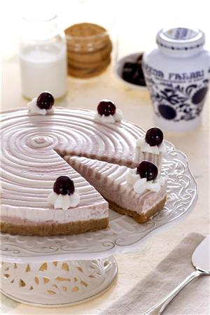 Cheesecake with Amarena Fabbri