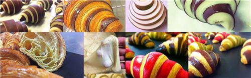 Croissants: techniques and types of mix