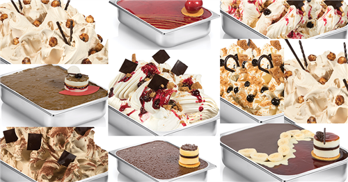 Beyond the tray: decorating gelato trays, cones and tubs